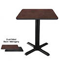 "Dual-Sided Black/Mahogany Dining-Height Table Kit 29-1/4""H"