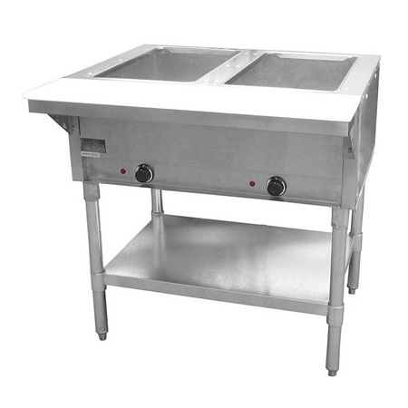 "Adcraft 2-Well 120V Electric Hot Food Table 33""W"
