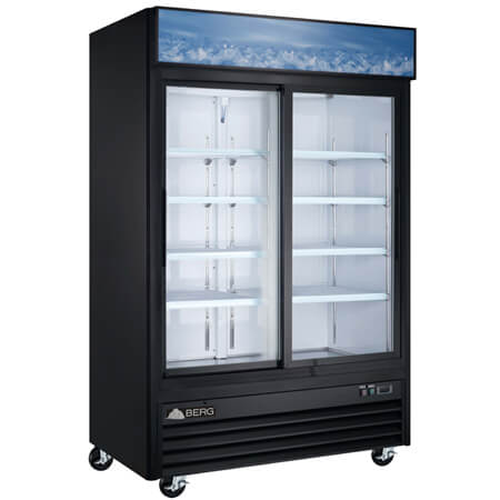 "Berg 44 cu. ft. 2 Sliding Door Refrigerator Merchandiser 53""W"