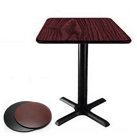 "30"" x 48"" Black/Mahogany Dual-Sided Table Kit"