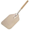 "American Metalcraft 22-1/2"" Aluminum Pizza Peel with Wood Handle and 9"" x 11"" Blade"