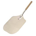 "American Metalcraft 26-1/2"" Aluminum Pizza Peel with Wood Handle and 12"" x 14"" Blade"