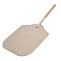 "American Metalcraft 28"" Aluminum Pizza Peel with Wood Handle and 14"" x 16"" Blade"