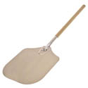 "American Metalcraft 36-1/2"" Aluminum Pizza Peel with Wood Handle and 12"" x 14"" Blade"