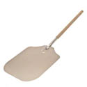 "American Metalcraft 37"" Aluminum Pizza Peel with Wood Handle and 14"" x 16"" Blade"