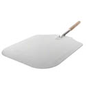 "American Metalcraft 30"" Aluminum Pizza Peel with Wood Handle and 16"" x 18"" Blade"