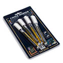 American Metalcraft White Smear-Proof Chalk Markers 4-Pack