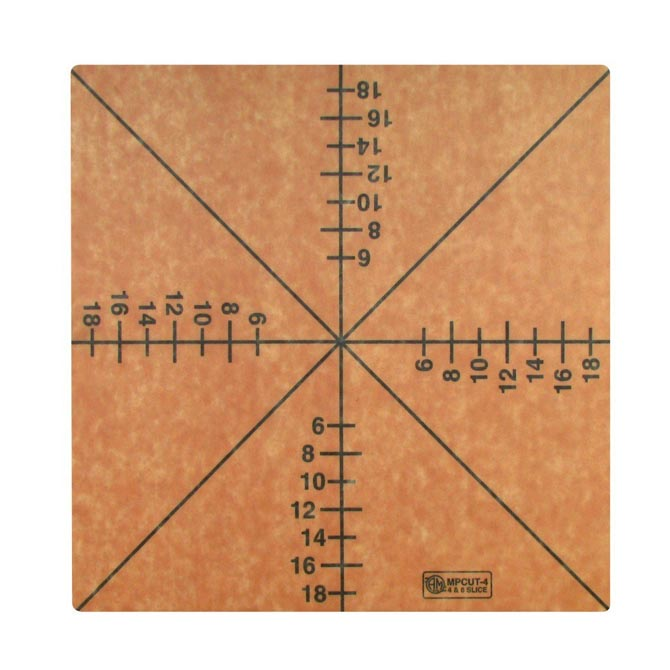 American metalcraft cutting board with pizza slice guide 20.