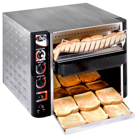 "APW 1000 Slices/Hour Wide-Mouth Conveyor Toaster 13""W Belt"