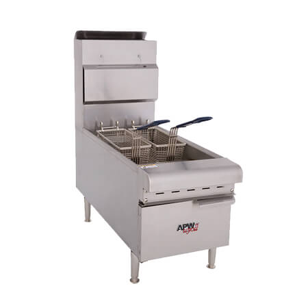 "APW Wyott 25 lb. Gas Countertop Fryer 15-1/2""W"