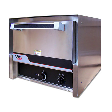"APW 208/240V Countertop Baking Oven with 2 Ceramic 16"" Decks 20-1/2""W"