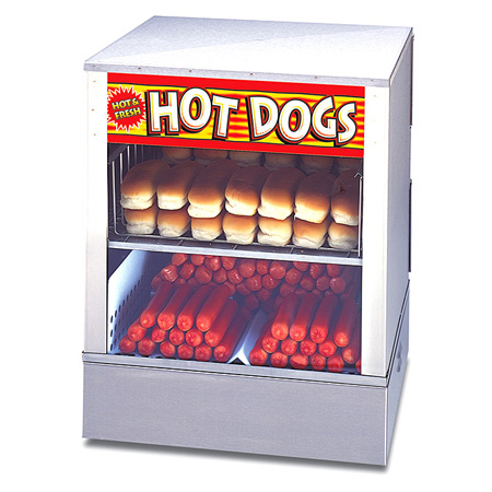 "APW 150 Hot Dog and 60 Bun Steamer 16""W"