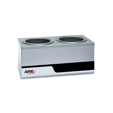 "APW Wyott Dual 4-Quart Countertop Food Warmer 18-1/2""W"