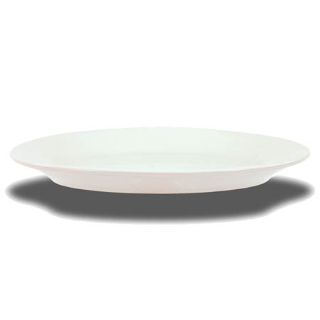 "Crestware Alpine 13-1/2"" Super White Narrow Rim Platter"