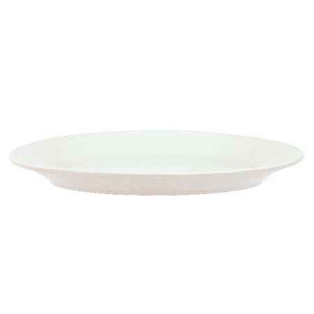 "Crestware Alpine 11.5"" Super White Rolled Edge Platter"