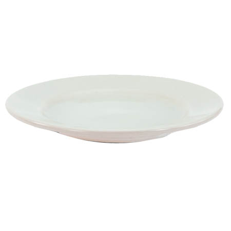 "Crestware Alpine 7-1/4"" Super White Narrow Rim Plate"