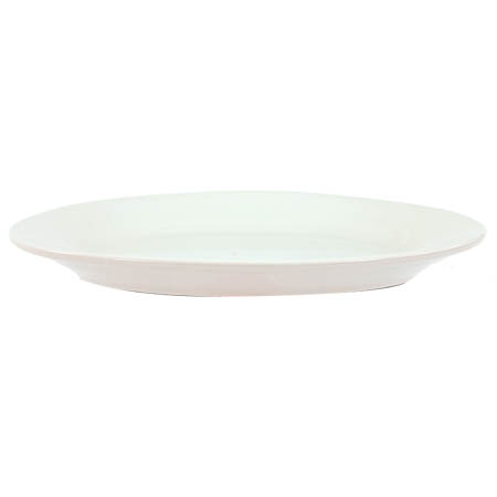 "Crestware Alpine 13-3/8"" Super White Rolled Edge Platter"