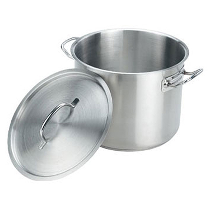 Crestware 20 Quart Stainless Steel Stock Pot With Cover 12 Inch Diameter