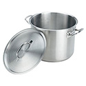 Crestware 20-Quart Induction Ready Stainless Steel Stock Pot with Cover