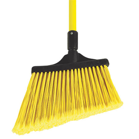 "O-Cedar Commercial 13"" Angled Broom with Flagged Bristles"