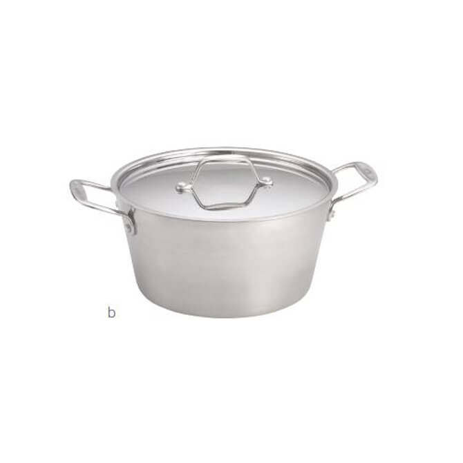 Tablecraft 4 Quart Induction Ready Stainless Steel Sauce Pan With
