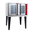 Tri-Star Full Size Single Deck 208V Electric Convection Oven with Legs 38-1/8