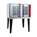 Tri-Star Full Size Single Deck Natural Gas Convection Oven with Legs and Liquid Conversion Kit 38-1/8