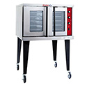 Tri-Star Full Size Single Deck Natural Gas Convection Oven with Legs and Casters 38-1/8