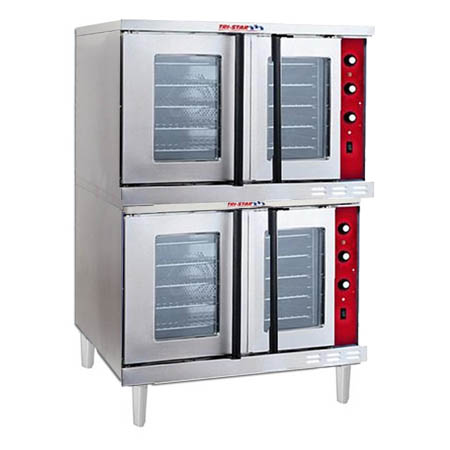 Tri-Star Full Size Double Deck Natural Gas Convection Oven