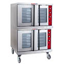 Tri-Star Full Size Double Deck Natural Gas Convection Oven with Casters 38-1/8