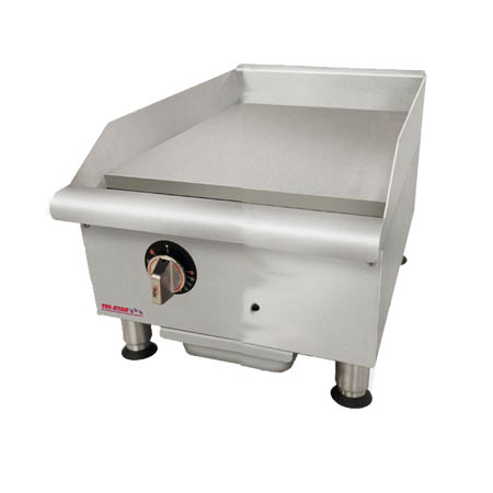 "Tri-Star 37,500 BTU Manual Control Gas Griddle 18""W"