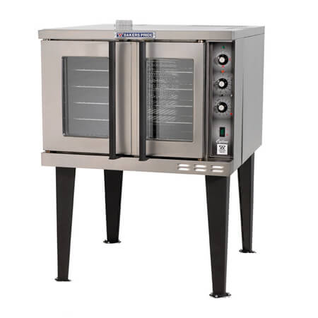 "Baker's Pride Full Size Single Deck 208V Electric Convection Oven with Legs 38-1/8""W"