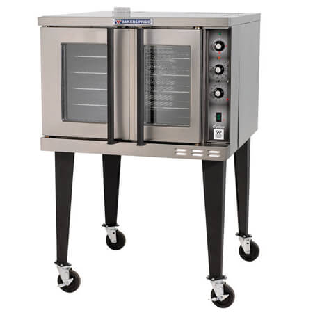 "Baker's Pride Full Size Single Deck 208V Electric Convection Oven with Casters 38-1/8""W"