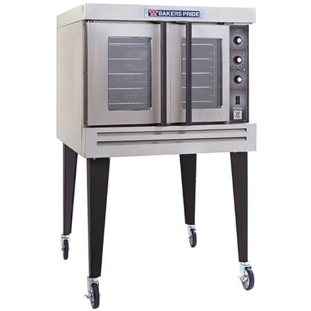 "Baker's Pride Full Size Single Deck Liquid Propane Gas Convection Oven with Legs and Casters 38-1/8""W"