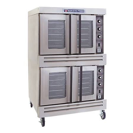 "Baker's Pride Full Size Double Deck Natural Gas Convection Oven with Casters 39""W"