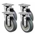 Set of 4 Casters for Tri-Star Ranges and Floor Fryers