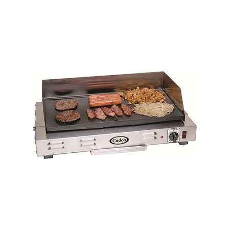 "Cadco 120V Medium Duty Portable Electric Griddle 21""W"