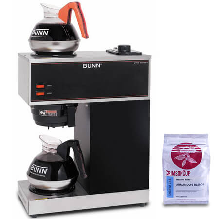 Bunn 2-Burner Pourover Coffee Brewer with Free 12 oz. Bag of Coffee Beans