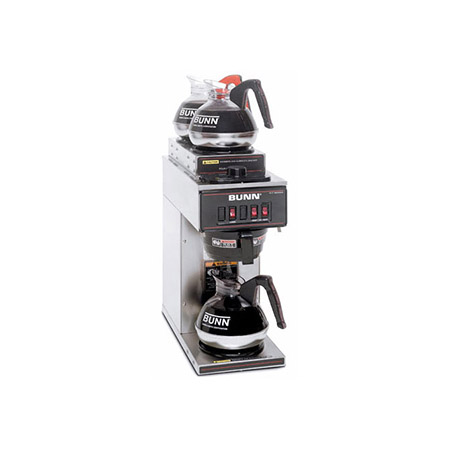 Bunn 3-Burner Stainless Steel Pourover Coffee Brewer