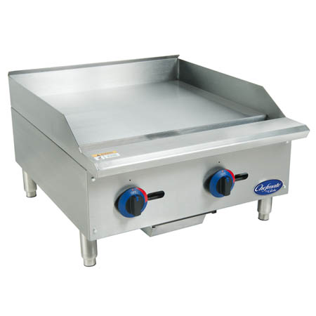 "Globe Chefmate Manual Control Gas Griddle 24""W"