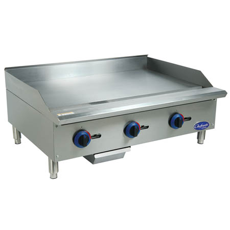 "Globe Chefmate Manual Control Gas Griddle 36""W"