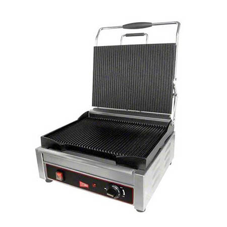 "Cecilware 14"" x 11"" Panini Ribbed Surface Sandwich Grill"