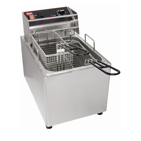 "Cecilware 15 lb. Light Duty 240V Electric Countertop Fryer 11""W"