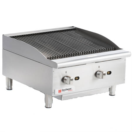 "Cecilware 80,000 BTU Radiant Gas Charbroiler 24""W"