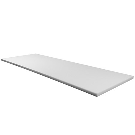 "Universal White Poly Prep Table Cutting Board 72"" x 11-3/4"" x 1/4"""