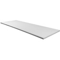 "Universal White Poly Prep Table Cutting Board 27"" x 10"" x 1/4"""