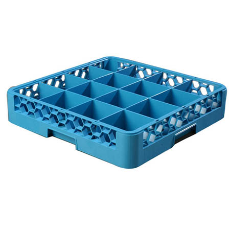 Carlisle OptiClean 16-Compartment Divided Glass Rack