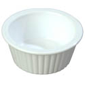 Carlisle 1 oz. White Fluted Ramekin