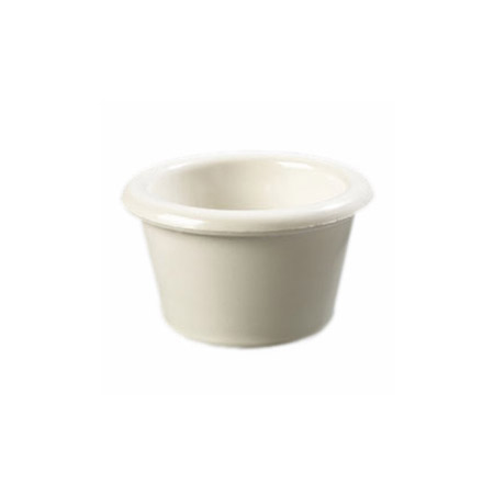 Gessner 1.5 oz. Bone White Smooth-Sided Melamine Ramekin