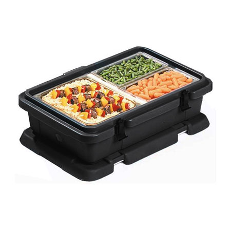 Carlisle Cateraide Black Insulated Top Loader for Single Pan